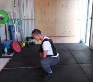 Fibre Active Weighted Squats